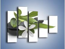 Obraz na płótnie – Artystyczna kompozycja z kwiatem – pięcioczęściowy K968W4
