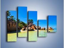 Obraz na płótnie – Bezludna wyspa i ja – pięcioczęściowy KN1058W4