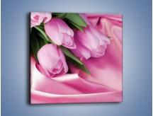 Obraz na płótnie – Atłas wśród tulipanów – jednoczęściowy kwadratowy K152