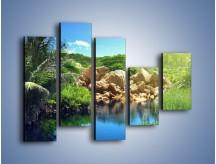 Obraz na płótnie – Bogata roślinność nad wodą – pięcioczęściowy KN1082AW4