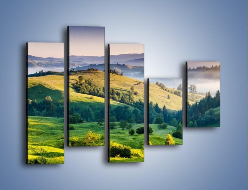 Obraz na płótnie – Tylko zieleń i góry – pięcioczęściowy KN1084W4