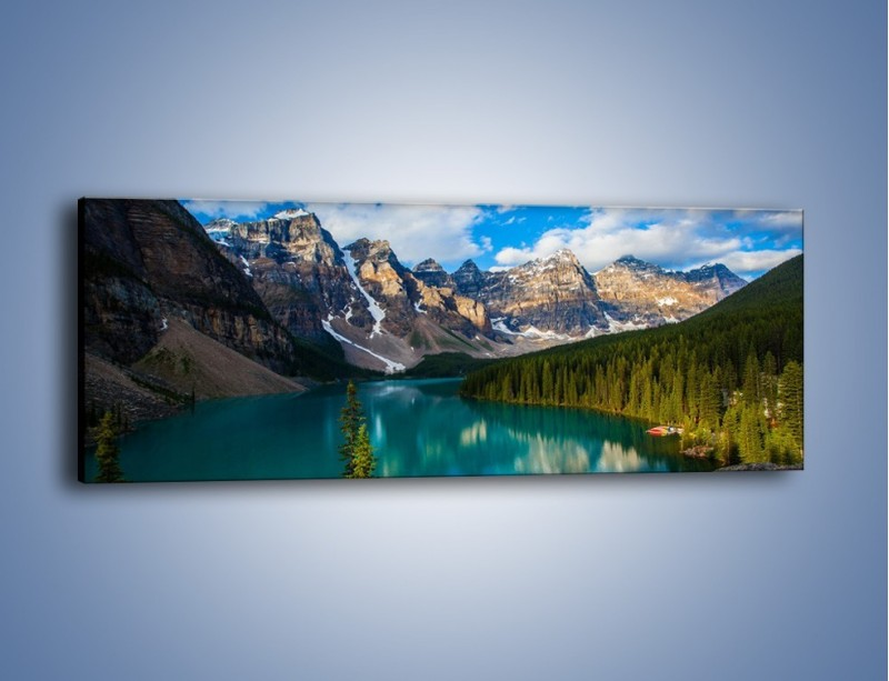 Obraz na płótnie – Spokój w górach – jednoczęściowy panoramiczny KN1258A