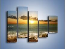 Obraz na płótnie – Brzegiem w stronę morza – pięcioczęściowy KN1092AW4
