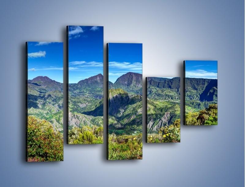Obraz na płótnie – Zieleń ukryta wysoko w górach – pięcioczęściowy KN1106W4