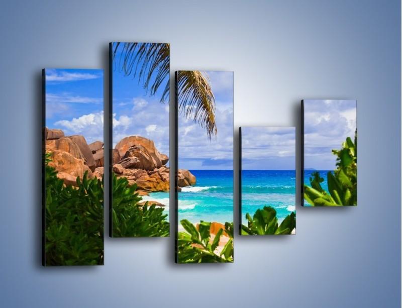 Obraz na płótnie – Urlop pod palmami – pięcioczęściowy KN1191AW4