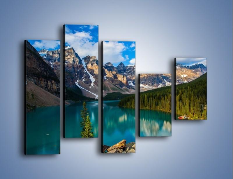 Obraz na płótnie – Spokój w górach – pięcioczęściowy KN1258AW4