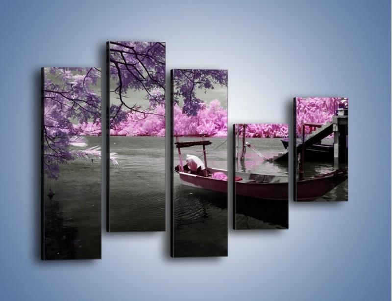 Obraz na płótnie – Krajobraz jak z japonii – pięcioczęściowy KN1277AW4