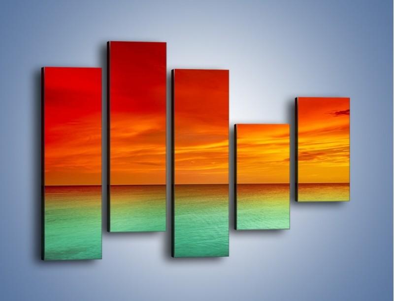 Obraz na płótnie – Horyzont w kolorach tęczy – pięcioczęściowy KN1303AW4