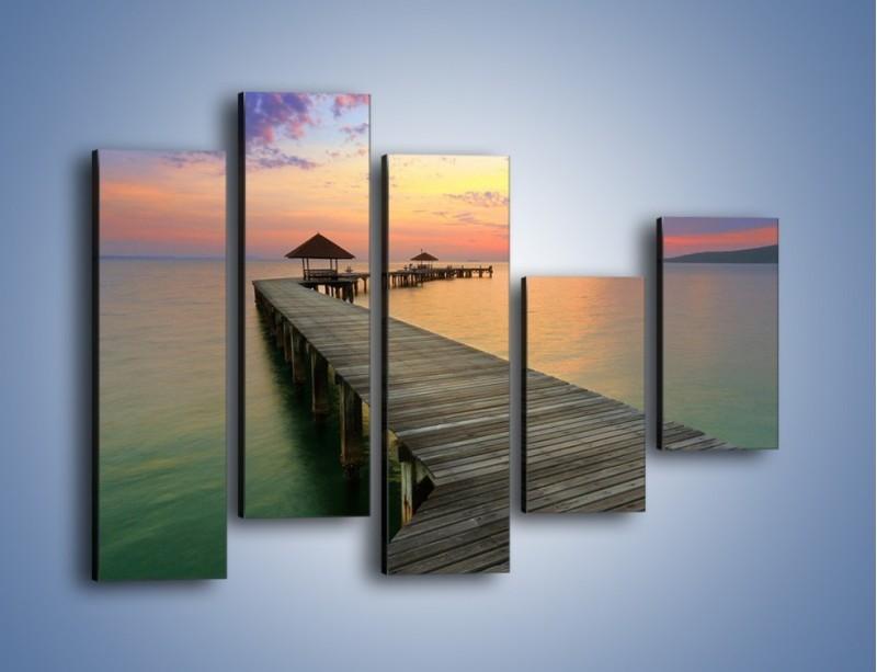 Obraz na płótnie – Krętym pomostem do morza – pięcioczęściowy KN327W4