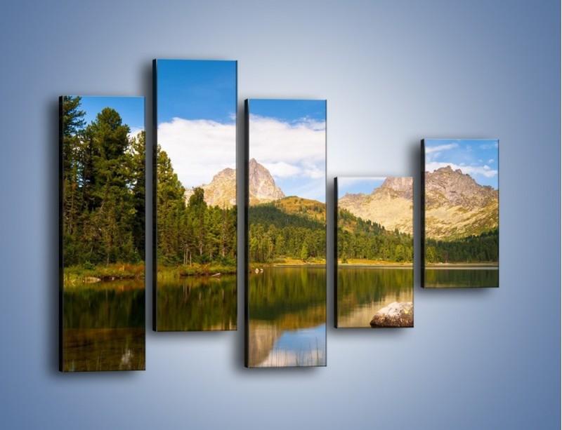 Obraz na płótnie – Widok nie tylko na góry – pięcioczęściowy KN401W4