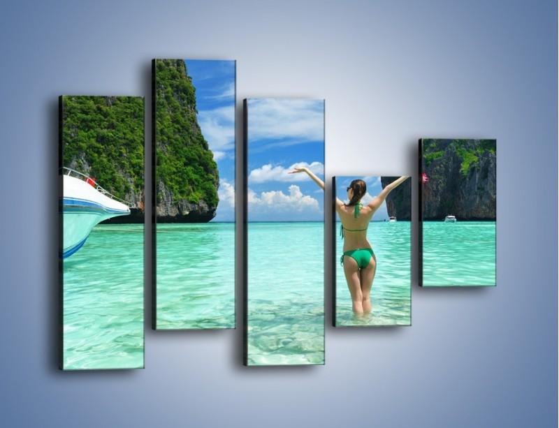 Obraz na płótnie – Udane wakacje w ciepłych krajach – pięcioczęściowy KN530W4