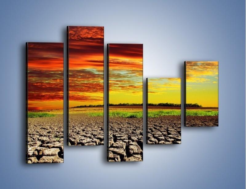 Obraz na płótnie – Spękane chmury i ziemia – pięcioczęściowy KN602W4