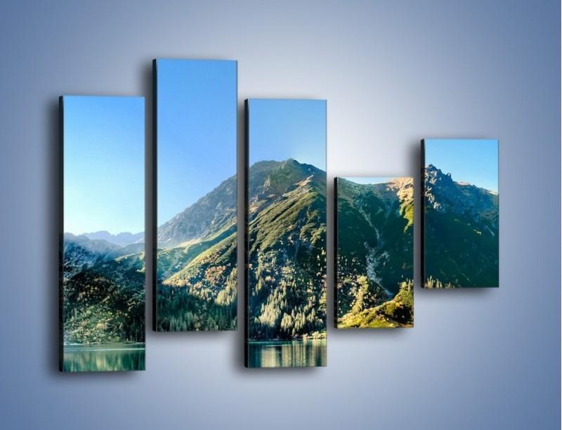 Obraz na płótnie – Chłodny klimat górski – pięcioczęściowy KN844W4