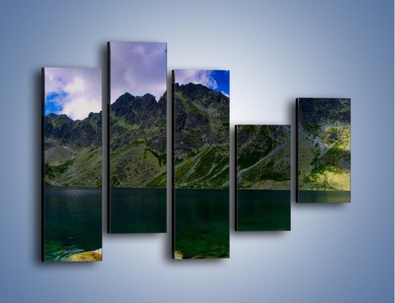 Obraz na płótnie – Horyzont górskich szczytów – pięcioczęściowy KN856W4