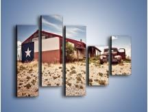 Obraz na płótnie – Autem przez texas – pięcioczęściowy KN874W4