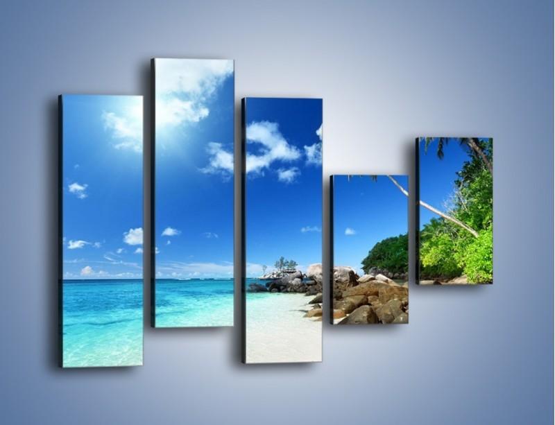 Obraz na płótnie – Rajska plaża i jej piękno – pięcioczęściowy KN963W4