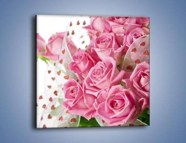 Obraz na płótnie – Wiązanka dla ukochanej – jednoczęściowy kwadratowy K168