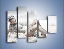 Obraz na płótnie – Biel i jego bogactwo – pięcioczęściowy L100W4