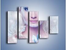 Obraz na płótnie – Biało-śnieżna dama – pięcioczęściowy L189W4
