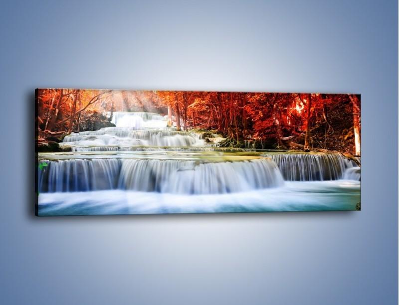Obraz na płótnie – Jak przyjemnie nad wodą – jednoczęściowy panoramiczny KN1291A