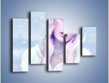 Obraz na płótnie – Delikatna królowa śniegu – pięcioczęściowy L224W4