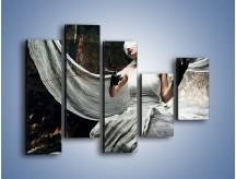 Obraz na płótnie – Dama w białych bandażach – pięcioczęściowy L278W4