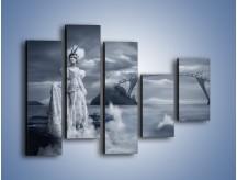 Obraz na płótnie – Dama w sepii – pięcioczęściowy L292W4