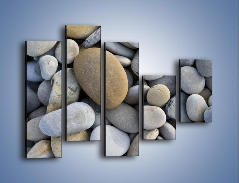 Obraz na płótnie – Kamienie duże i małe – pięcioczęściowy O006W4