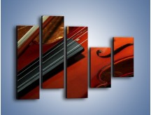 Obraz na płótnie – Instrument i muzyka poważna – pięcioczęściowy O025W4