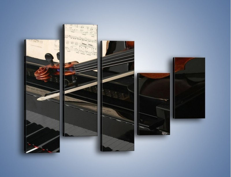 Obraz na płótnie – Instrumenty stworzone do pięknej melodii – pięcioczęściowy O054W4