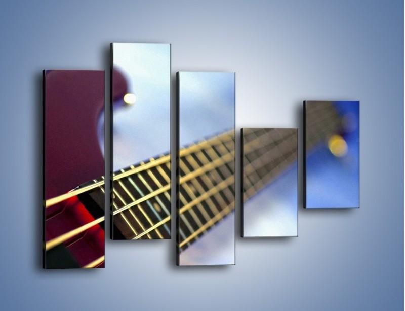 Obraz na płótnie – Gitara z bliska – pięcioczęściowy O088W4