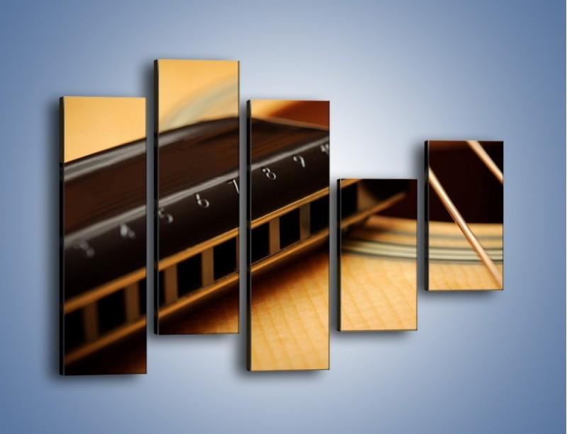 Obraz na płótnie – Instrumenty z drewna – pięcioczęściowy O108W4