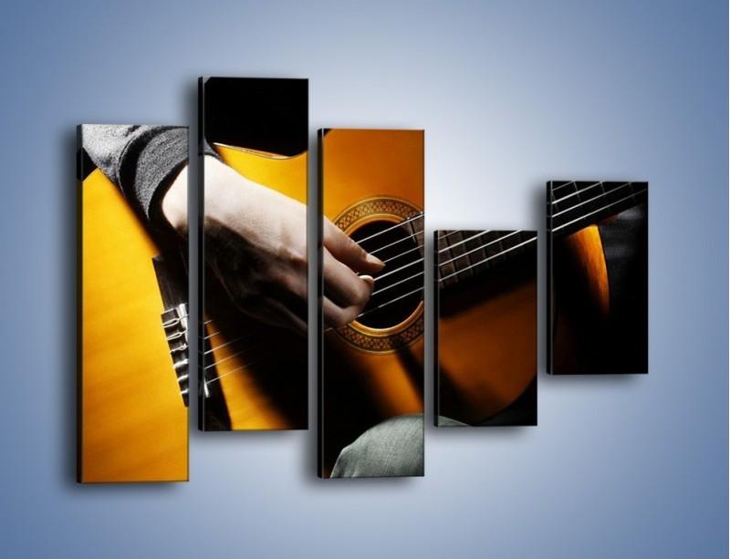 Obraz na płótnie – Chłopiec z gitarą – pięcioczęściowy O109W4