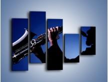 Obraz na płótnie – Koncert na saksofonie – pięcioczęściowy O110W4