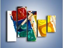 Obraz na płótnie – Kolorowy świat malowany farbami – pięcioczęściowy O116W4