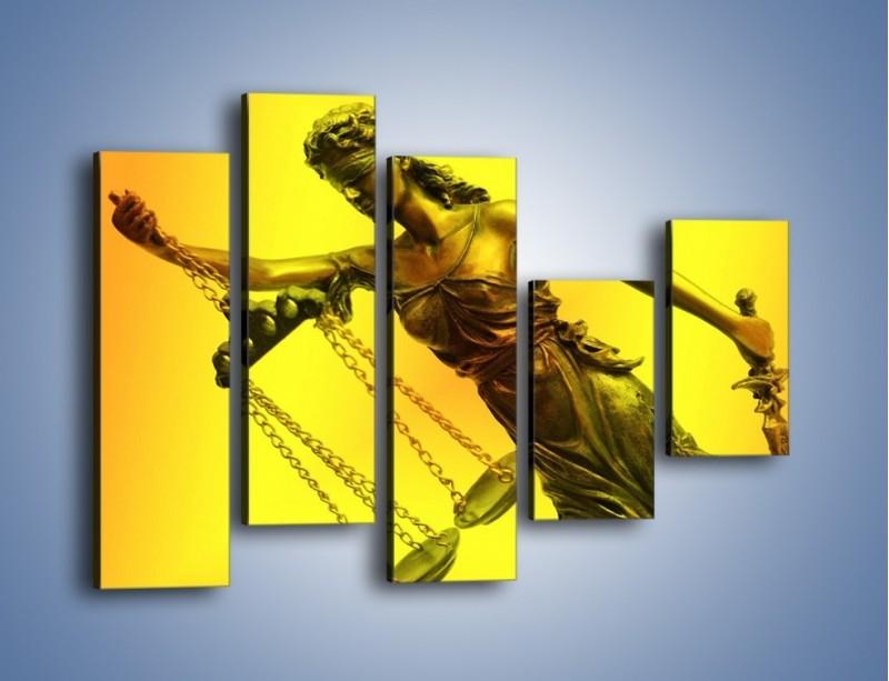 Obraz na płótnie – Figurka ważna w świecie prawa – pięcioczęściowy O164W4