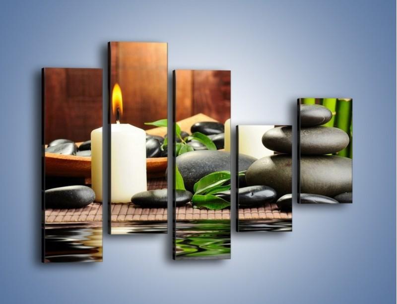Obraz na płótnie – Masaż przy świecach – pięcioczęściowy O176W4