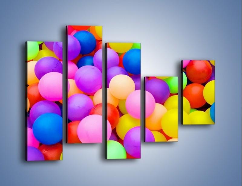 Obraz na płótnie – Basen z kolorowymi piłeczkami – pięcioczęściowy O208W4