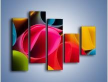 Obraz na płótnie – Kolorowe rulony – pięcioczęściowy O217W4