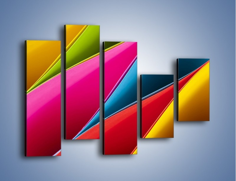 Obraz na płótnie – Idealna kolorowa kompozycja – pięcioczęściowy O219W4