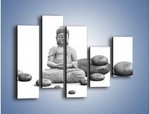Obraz na płótnie – Budda wśród kamieni – pięcioczęściowy O229W4