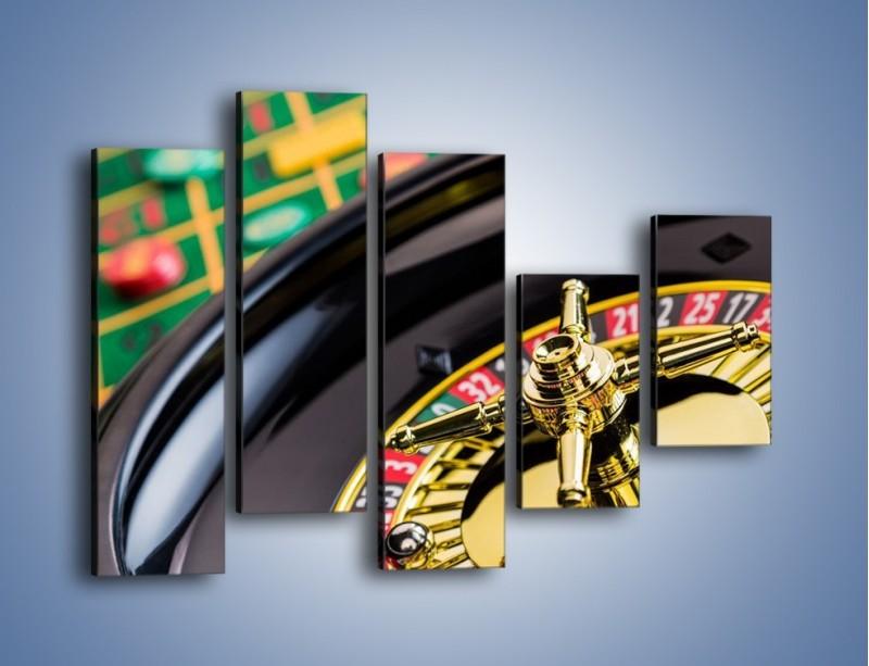 Obraz na płótnie – Czas drogocenny w kasynie – pięcioczęściowy O238W4