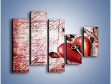 Obraz na płótnie – Klucz do serca – pięcioczęściowy O246W4