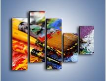 Obraz na płótnie – Kolory ze sobą zmieszane – pięcioczęściowy O251W4