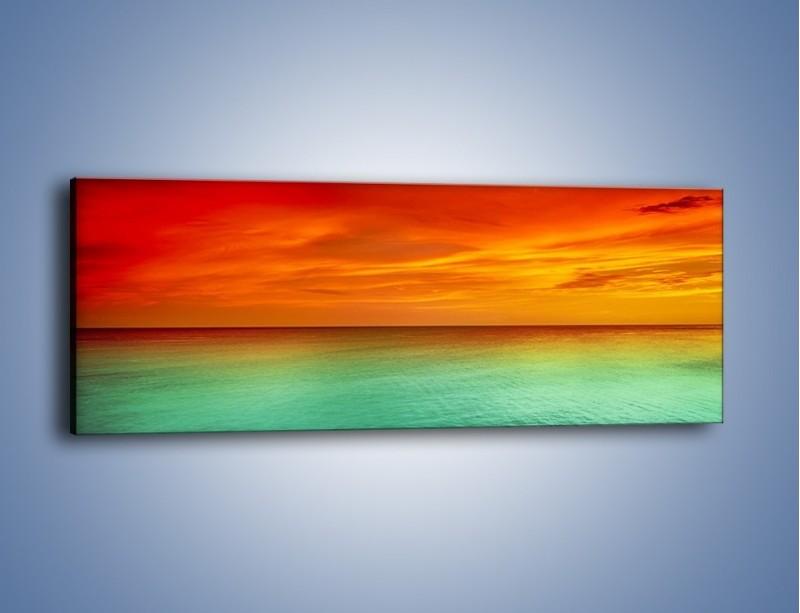 Obraz na płótnie – Horyzont w kolorach tęczy – jednoczęściowy panoramiczny KN1303A