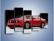 Obraz na płótnie – Czerwony Ford Mustang GT – pięcioczęściowy TM052W4