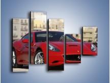 Obraz na płótnie – Czerwone Ferrari California – pięcioczęściowy TM057W4