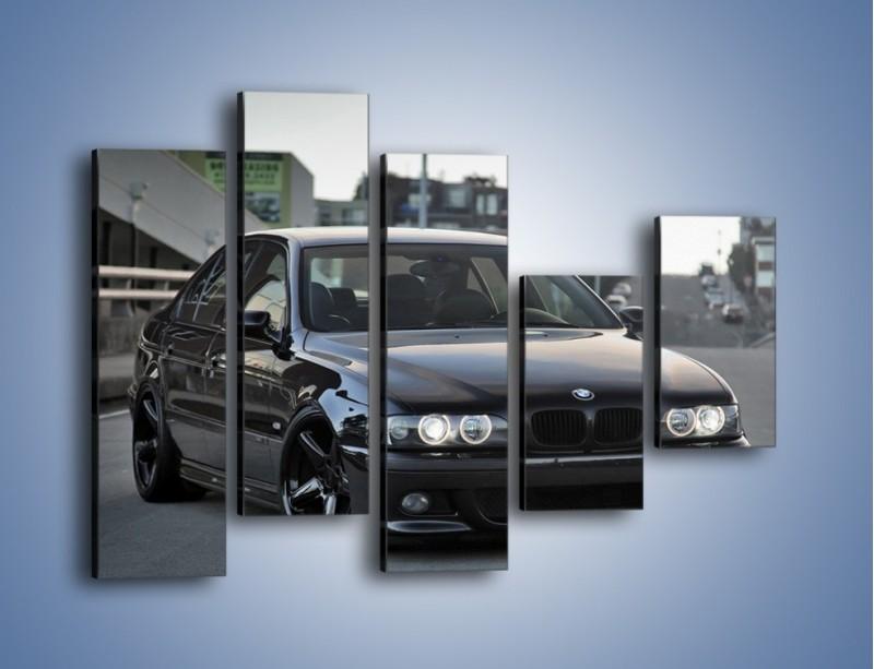 Obraz na płótnie – Czarne BMW E39 M5 – pięcioczęściowy TM072W4