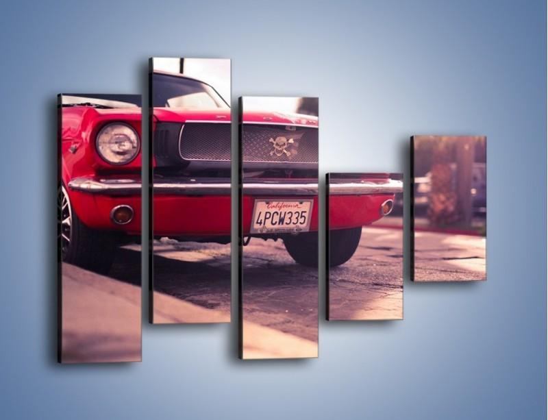 Obraz na płótnie – Czerwony Ford Mustang – pięcioczęściowy TM087W4