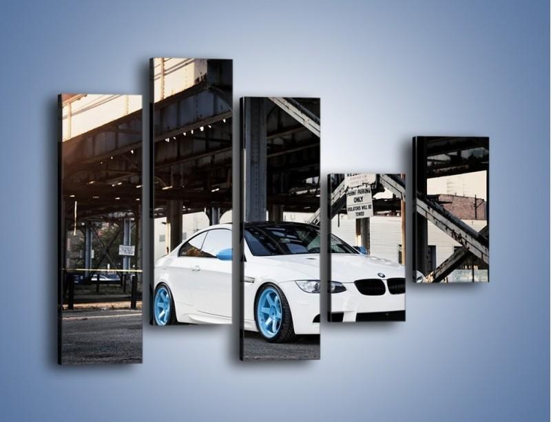 Obraz na płótnie – BMW E92 M3 Coupe pod starym mostem – pięcioczęściowy TM088W4